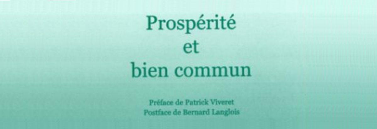 Prospérité et bien commun