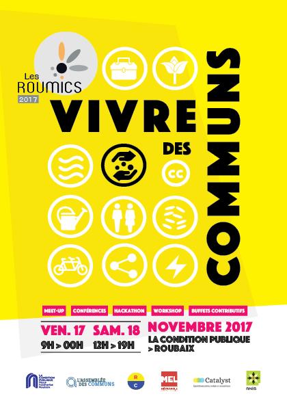 Roumics 2017 : Vivre des communs, avec Michel Bauwens (Roubaix – 17&18 nov.)